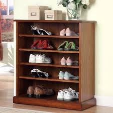 Shoe Shelves For Wall Interior Wooden Mudroom For Shirt And Shoes With Metal Clothes