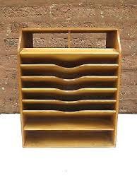 Vintage Desk Organizers Wood Desks Organizers Vintage Wood Desk Organizer Distressed White
