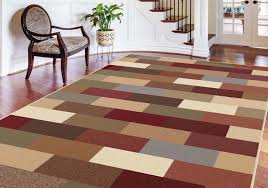 Green And Brown Area Rugs Contemporary Green Blue Brown Red Geometric Area Rug Modern Boxes