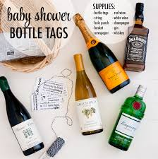 diy baby shower gift basket with alcohol diy craft ideas