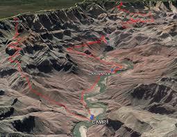 lipan map arizona grand national park escalante route lipan to