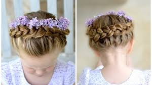 flower girl hair flower girl hairstyle crown braid
