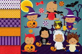 halloween baby clipart haloween baby g design bundles