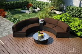 Curved Sectional Patio Furniture - harmonia living arden 4 piece eclipse sectional set