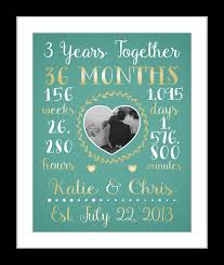 3rd year anniversary gift any or 3 year anniversary gift 3 year wedding anniversary