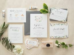 ivy invitation suite by bright room studio watercolor wedding