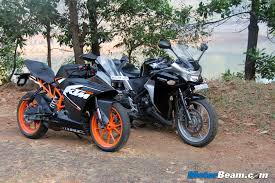 honda cbr india ktm rc 200 vs honda cbr250r shootout comparison review