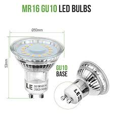 Halogen Shop Light Le 10 Pack Gu10 Led Light Bulbs 50w Halogen Bulbs Equivalent