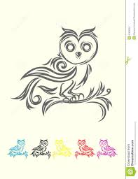 owl tribal stock vector image 41838253 tattoo pinterest