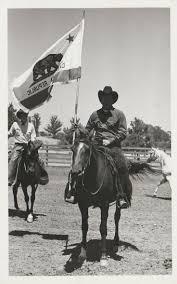 California Flag Horse California Cowboy With Bear Flag Foto Bear Flag Museum