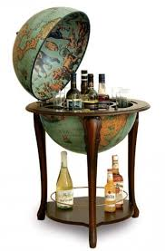 globe shaped liquor cabinet