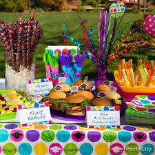 Buffet Items Ideas by Grad Buffet Tableware Idea Colorful Graduation Party Ideas