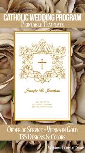 wedding programs diy templates 111 best catholic wedding programs diy printable order of service