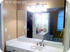 Framing Builder Grade Bathroom Mirror Bathroom Mirror Frame This May Be A Great Way To Cover The Ugly