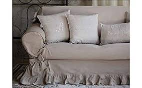 canapé shabby chic blanc mariclo cover for 2 seater sofa shabby chic white amazon co
