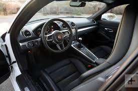 porsche hatchback interior 2018 porsche 718 cayman review digital trends