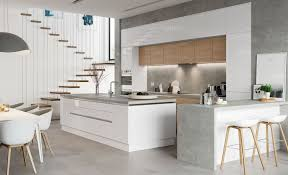 white contemporary kitchen cabinets gloss white high gloss lacquer combination with wood grain design