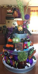 halloween galvanized tiered tray great way to decorate for all