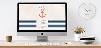 Wallpaper Nautical Theme - august 2016 free calendar desktop wallpaper