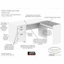 Reversible L Shaped Desk Bush Wheaton Corner Puter Desk Reversible Corner Desk L Shape