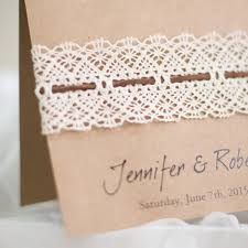 Wedding Invitation Diy Affordable Diy Vintage Rustic Lace Folded Wedding Invitations