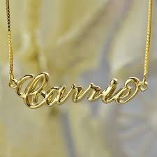 carrie name necklace 3d carrie jewelry personalized 3d name necklace gold nameplate