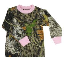 girls u0027 camo long sleeve tee with pink trim