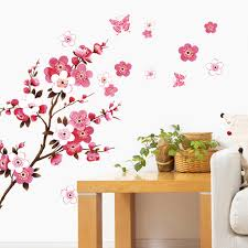 blossom wall poster waterproof background sticker for bedroom cafe
