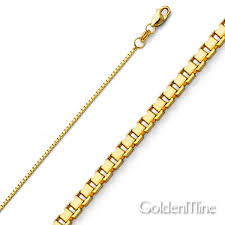 box necklace images 1mm 14k yellow gold box chain necklace 16 24in jpg