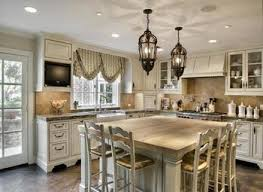 french kitchen decorating ideas with brown floor and unique chairs
