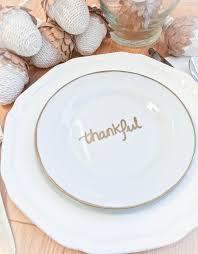 diy thankful salad plate my uncommon slice of suburbia