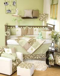 excellent unisex baby room design with brown leaves themes using alluring
