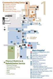 Recreation Center Floor Plan by Facility Campus Map Phoenix Va Health Care System