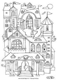 printable spooky house haunted house colouring page holyfamilyandheri com free coloring