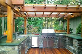 Outside Kitchen Design Awesome Outdoor Kitchen Designs Hometutu Com