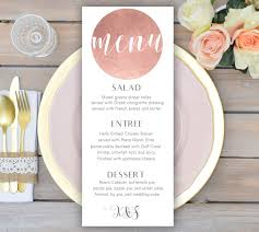 wedding menu cards gold wedding menu card printable wedding menu