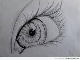 pencil sketch of a beautiful eye desipainters com