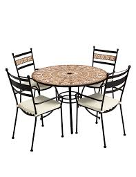 terracotta mosaic table u0026 4 chairs m u0026s