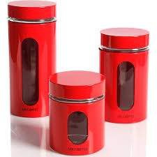 Kitchen Storage Canisters Sets Amazon Com Kitchen Food Storage Glass Canister Mr Coffee Java Bar