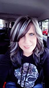 shag haircut brown hair with lavender grey streaks image result for lowlights grey hair hair pinterest gray