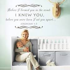Scripture Wall Decals For Nursery Baby Nursery Wall Decal Before I Formed You In The Womb Christian