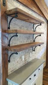 Open Metal Shelving Kitchen by Stylish Brackets For Open Shelving In The Kitchen Kitchen