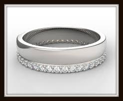 womens white gold wedding bands white gold diamond wedding ring for women vidar jewelry unique