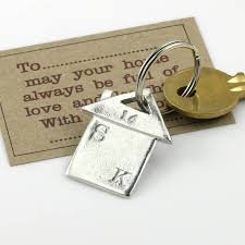 new home gift housewarming gift personalised keyring by multiply
