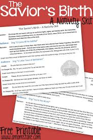 the savior s birth a nativity skit script with free