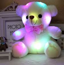 christmas gifts for new 2015 new plush small colorful glowing light pillow teddy model