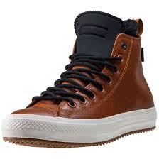 converse ctas chuck ii leather neoprene mens trainers in tan