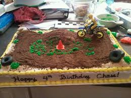 dirt bike track this was a birthday cake for a young man who
