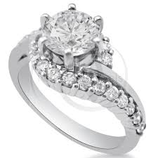 twisted band engagement ring cut twisted prong set engagement ring r197