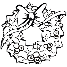 christmas wreath coloring pages coloring